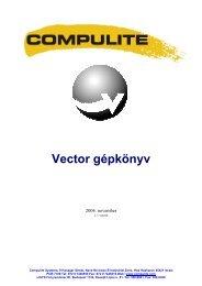 Vector gépkönyv - Lisys Fényrendszer Zrt.