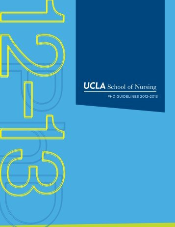 PhD GuiDelines 2012-2013 - UCLA School of Nursing