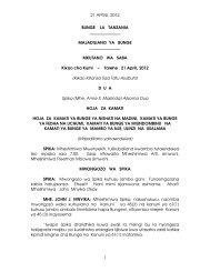 21 APRILI, 2012 1 BUNGE LA TANZANIA MAJADILIANO YA ...