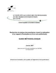 Guide méthodologique sur la recherche et l'analyse ... - CHUQ