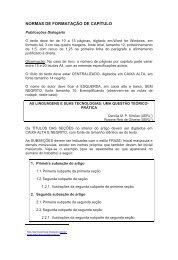 NORMAS DE FORMATAÇÃO DE CAPÍTULO - Dialogarts - Uerj