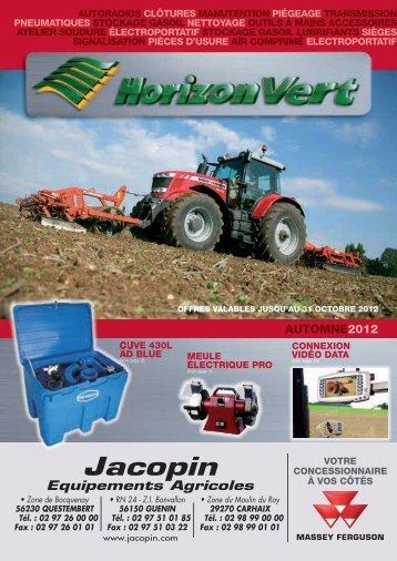 Jacopin Equipements Agricoles • Zone de Bocquenay 56230 ...
