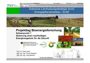 Extensive Landnutzungsstrategie durch ... - ELKE