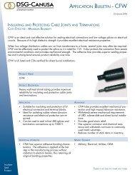 APPLICATION BULLETIN - CFW - DSG-Canusa