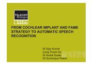 from cochlear implant and fame strategy to automatic speech ...