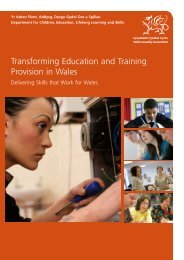 Transforming Education and Training Provision in Wales