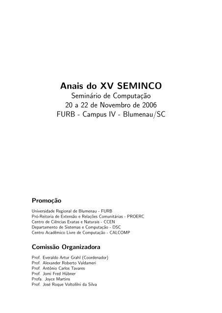 Arquivo completo com todo o volume dos Anais - Departamento de ...