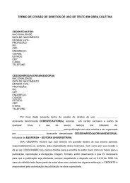 termo de cessão de direitos de uso de texto em obra coletiva - Ufersa