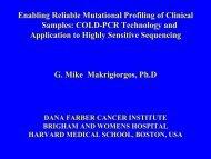 COLD PCR - Molecular Diagnostics for Cancer Drug Development