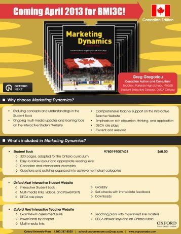 Marketing Dynamics Flyer_2013 - Oxford University Press Canada