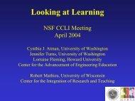 Looking at Learning - University of Washington
