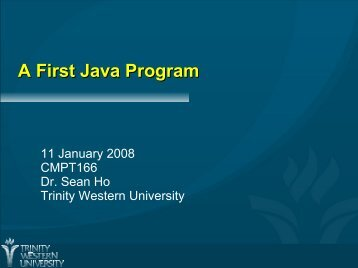 A First Java Program