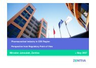 Pharmaceutical industry in CEE Region Perspective from - EOQ