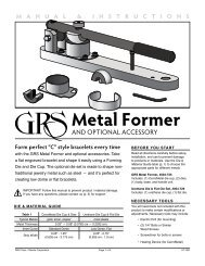 Metal Former - GRS Tools