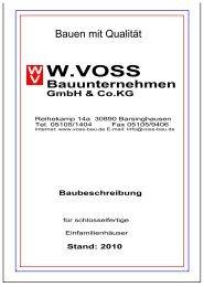 Stand - bei Voss Bau - Bauunternehmen GmBH & Co. KG