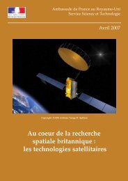 les technologies satellitaires - France in the United Kingdom