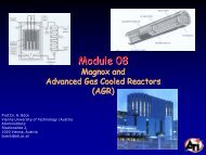 Nuclear Reactor Technology : The Fuel Cycle - Atominstitut