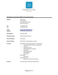 Parrot Cay by COMO - Press Kit(Metric) - COMO Hotels and Resorts