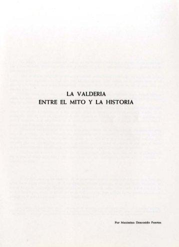 La Valdería entre el mito y la historia, por Maximino Descosido Fuertes