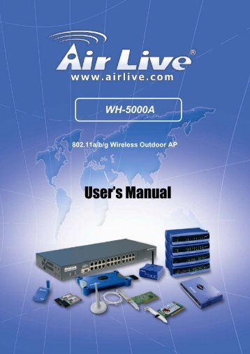 WH-5000A Serials User Guide - kamery airlive airlivecam