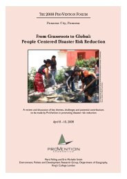 From Grassroots to Global: People Centered Disaster Risk Reduction ...