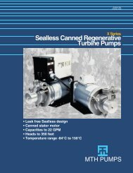 Download a printable version of the X Series Product ... - MTH Pumps