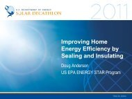 Improving Home Energy Efficiency by Sealing and ... - Solar Decathlon