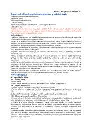 Rozsah a obsah projektové dokumentace pro provádění stavby