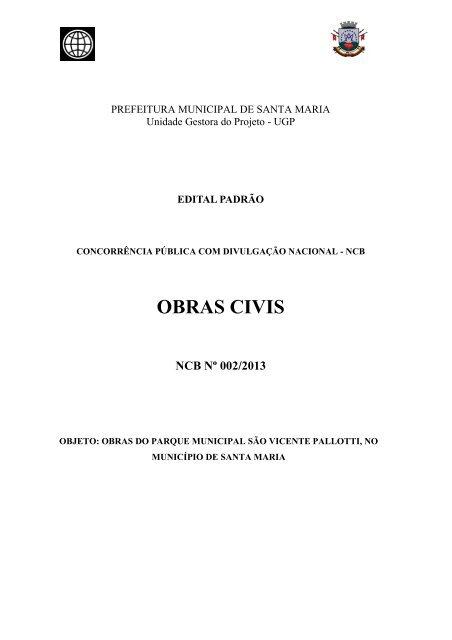 OBRAS CIVIS: Modelo - Prefeitura Municipal de Santa Maria