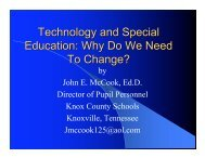 Technology and Special Education: Why Do We Need To Change?