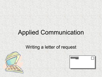 writing a donation letter - ppt in pdf format