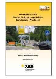 Machbarkeitsstudie im Auftrag der Stadt Waiblingen - ARGE Nord-Ost