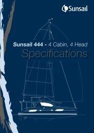 Sunsail 444 - 4 Cabin, 4 Head