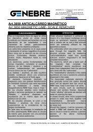 Art.3850 ANTICALCÁREO MAGNÉTICO Art.3850 MAGNETIC ... - TDM