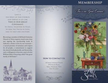 Download Our brochure on Membership. - All Souls Unitarian Church
