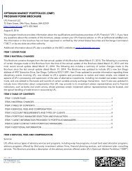 Optimum Market Portfolios (OMP) - LPL Financial