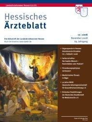 Hessisches Ärzteblatt Dezember 2008 - Landesärztekammer Hessen