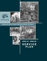 2006/07 - 2008/09 service plan - BC Housing