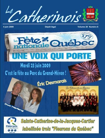 4 juin 2009 Dépôt légal Volume 28 Numéro 6 - Ville de Sainte ...