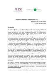 El conflicto colombiano y las respuestas de la ... - International Alert
