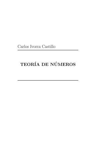 Carlos Ivorra Castillo TEOR´IA DE N´UMEROS - DIM