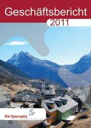 Geschäftsbericht 2011 - RW Oberwallis