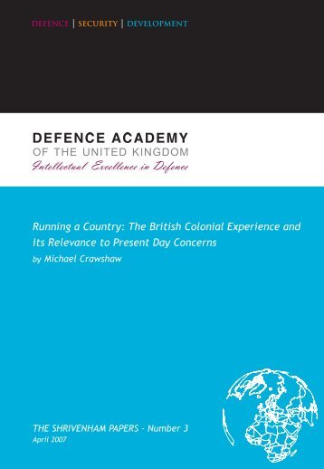 The British Colonial Experience and its Relevance to Present Day ...