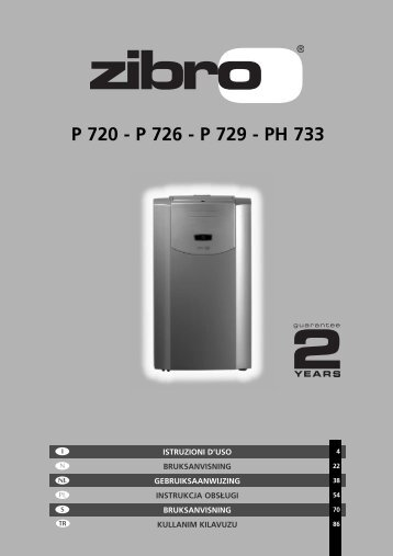 P 720 - P 726 - P 729 - PH 733 - Zibro