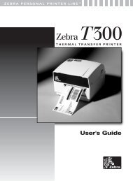 Zebra T300 Printer User's Guide - BarcodeMuseum.com