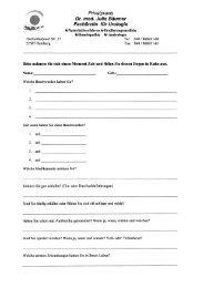 Fragebogen Allgemein