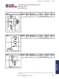 Cartridge Valves Technical Information Spreader ... - Comatrol.net