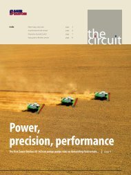 the circuit Power, precision, performance - Sauer-Danfoss