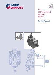 H1 060/080/110/160 Bent Axis Motors Service ... - Sauer-Danfoss