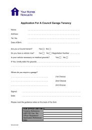 Application For A Council Garage Tenancy